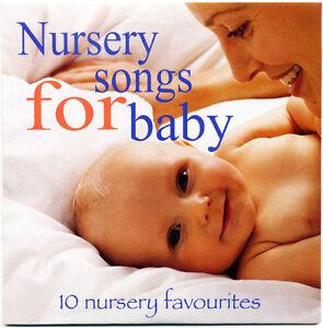 Nursery Songs for Baby CD -  10 favourite nursery rhymes.  CD in card wallet NEW