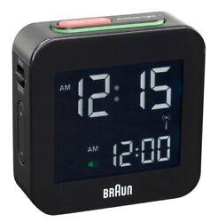 Braun LCD Quartz Alarm Clock - Black BNC008