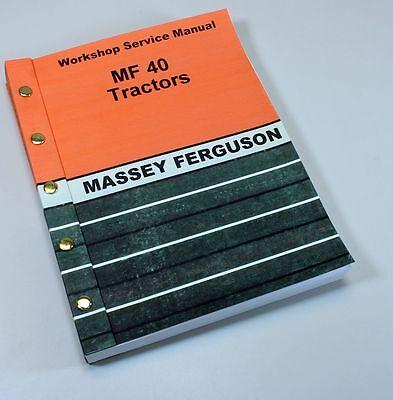 Massey Ferguson Mf 40 Industrial Tractors Service Repair Workshop Manual Mf40