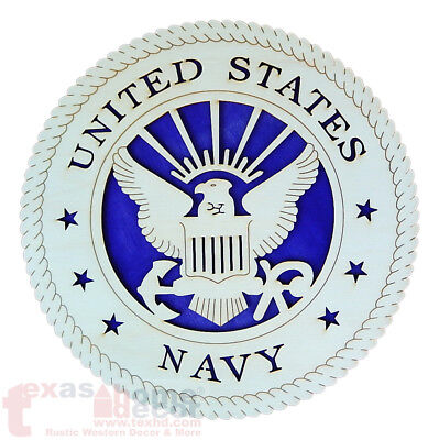 United States Navy Emblem Wooden Wall Hanging Plaque Sign Military 11 3/4 in ()