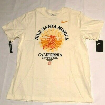 Nike Santa Monica Blue Ribbon Sports Mens Shirt L Pale Ivory CQ7195-110