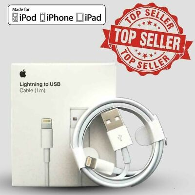 Genuine iPhone Charger Cable - Apple Lightning Sync USB Lead 5 6 7 8 X XS XR SE