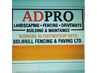 Fencing services 10% discount until end of Feb. Paving and building also undertaken