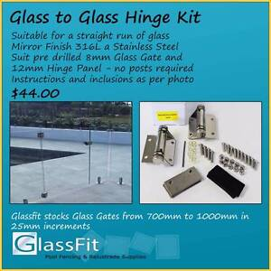 S/Steel Frameless Gate Hinges - Suit Inline Pool Fence - 316L Yatala Gold Coast North Preview