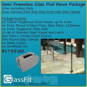 10m Pool Fence Package -Inc Gate, S/S Base Plate Posts & all Comp Yatala Gold Coast North Preview