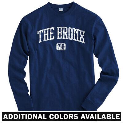 Bronx 718 Long Sleeve T-shirt LS - South Yankees Bombers New York - Men / Youth Bomber Long Sleeve T-shirt