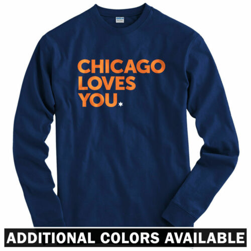 Chicago Loves You Long Sleeve T-shirt - Bears Chi-Town Hawks