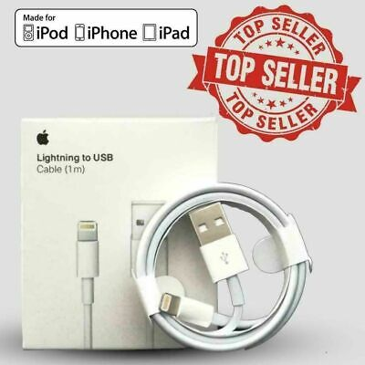 Genuine iPhone Charger Cable - Apple Lightning Sync USB Lead 8 7P 6s 5 X XS XR