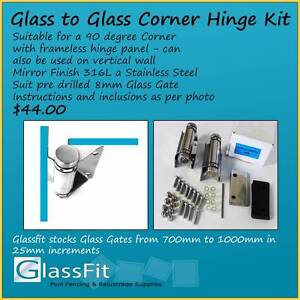 Glass to Glass Corner Hinge Kit - Frameless Glass Pool Fencing Yatala Gold Coast North Preview
