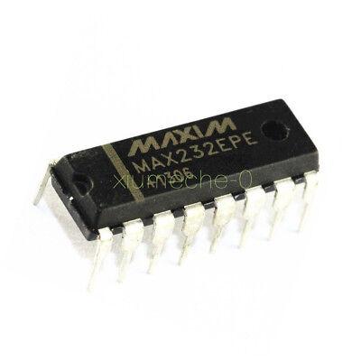5 Pcs Max232 Max232epe Dip-16 Maxim Chip Ic New