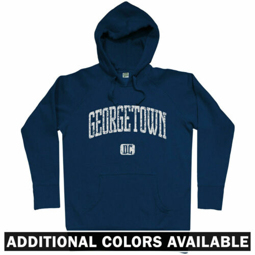 Georgetown Hoodie - Washington DC Hoyas University 202 Nationals DCA - Men S-3XL