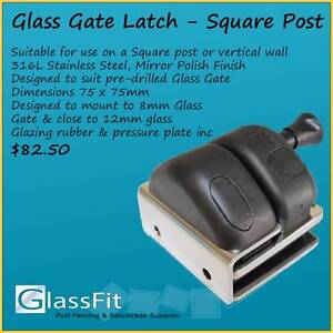 Pool Safe Glass Gate Latch - close to SQ Post or Vertical Wall Yatala Gold Coast North Preview