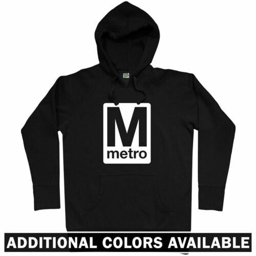 Washington DC Metro Hoodie - DCA IAD Subway Train Nationals Redskins - Men S-3XL