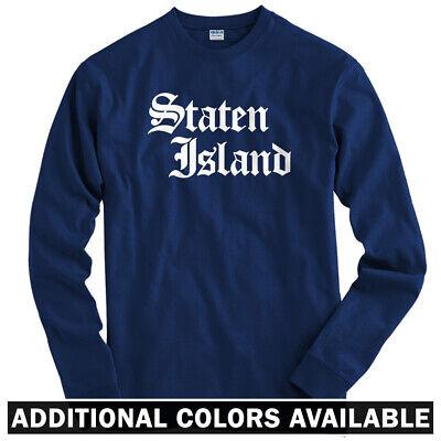 Staten Island Gothic NYC Long Sleeve T-shirt LS - New York City NY - Men / Youth