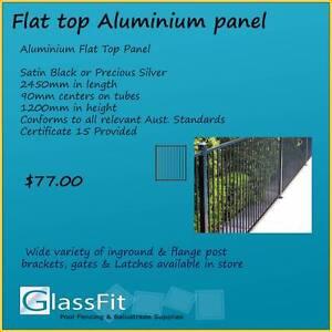 Aluminium Flat Top Pool Fencing Panel Yatala Gold Coast North Preview