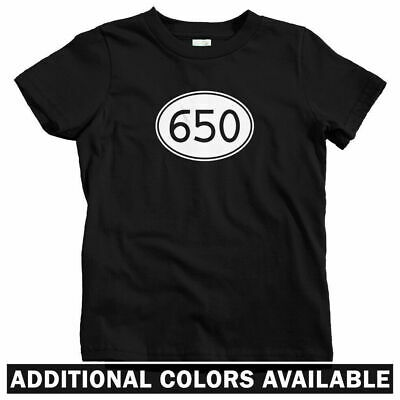 Area Code 650 Kids T-shirt - Baby Toddler Youth Tee - Silicon Valley Palo (Palo Alto Kids)