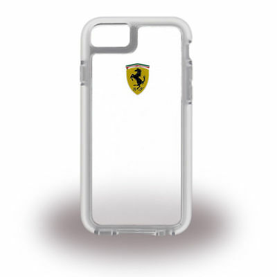 """Ferrari BACKCOVER ClipOn CASE HANDYTASCHE for iPhone 6S 4,7"""" Shockproof in White"""