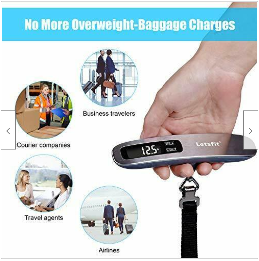 LETSFIT Portable SUITCASE Digital LUGGAGE SCALE For Travelers FREE SHIPPING - $21.00