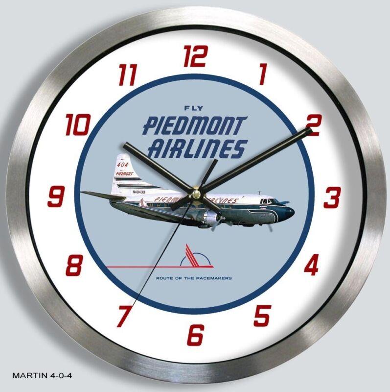 PIEDMONT AIRLINES MARTIN 4-0-4 WALL CLOCK METAL 1950s 1960s martin 404