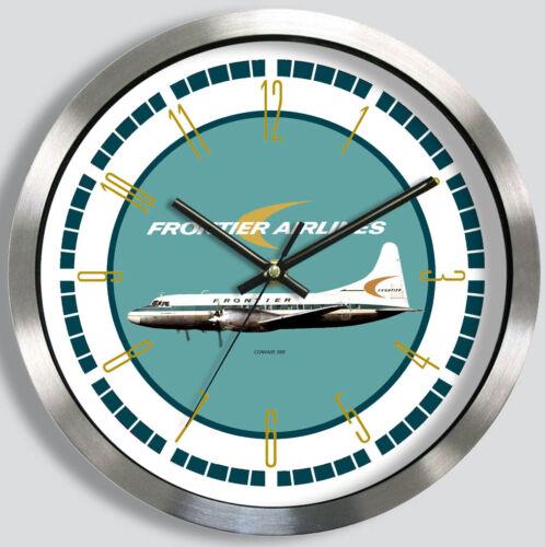 FRONTIER AIRLINES CONVAIR 580 WALL CLOCK METAL 1960s 70s