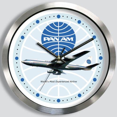 PAN AM AIRLINES BOEING 707 WALL CLOCK METAL 1960s