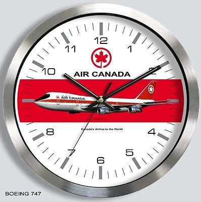 Air Canada Boeing 747 Wall Clock Metal