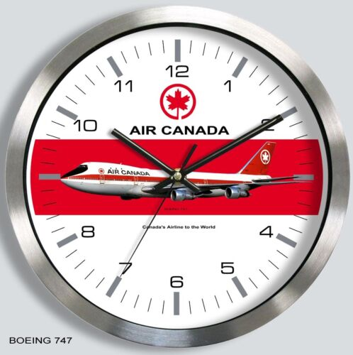 AIR CANADA BOEING 747 WALL CLOCK METAL