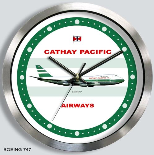 CATHAY PACIFIC AIRWAYS BOEING 747 WALL CLOCK METAL 1970