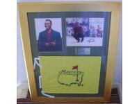 Tiger Woods authentic and genuine hand signed and framed photo display. Golf. USA.