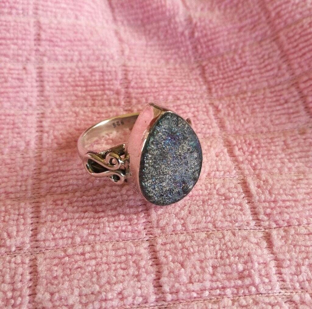 Silver Druzy ring | in Sheffield, South Yorkshire | Gumtree