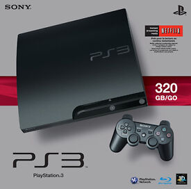 Playstation 3 slim, 320Gb, PS3, Sony, Game, Gaming, boxed, hardly used.