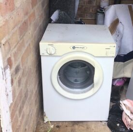 WHITE KNIGHT 3KG TUMBLE DRYER USED WHITE GOODS needs belt