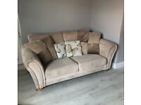 2 seater sofa set with swivel snuggle chair and stool