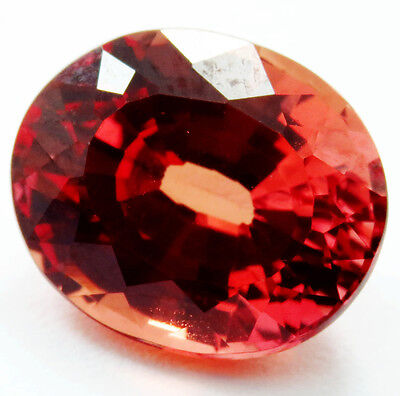 6.45ct Flame fusion RICH ORANGE PADPARADSCHA SAPPHIRE OVAL Cut 9.6 X12.4 MM for sale  Shipping to United States
