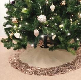 Sequin Christmas Tree Skirt (Brand New)