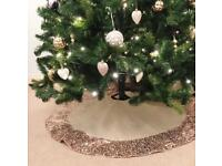 Sequin Christmas Tree Skirt (Brand New)
