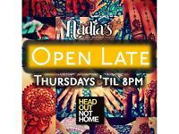 Henna Studio OPEN LATE every Thursday 'til 8pm