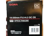Sigma 18-250mm f3.5-6.3 DC OS (Canon mount)