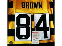 NFL pittsburgh steelers signed jersey and helmet american football antonio brown