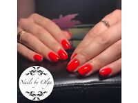 Gel nails,toes,uv gel extension,maniciure