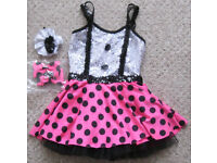 Polka Dot Dance Dress, size Medium.