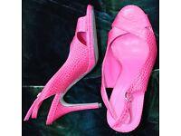 Marks & Spencer. Ladies Sandal, Cerise/Pink size 4.5