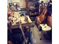 Guitar and stringed instruments repair and restorations, professional service in Holloway rd.
