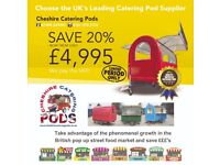 Funky lightweight Catering Pods/trailers 2400 x 1650 x 2000 (other sizes available) 4,995 (NO VAT)