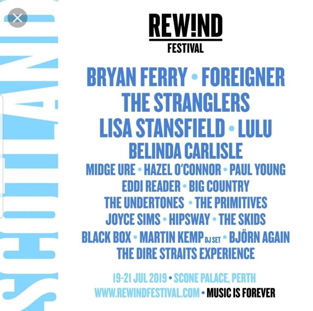 2 x Rewind Scotland tickets with boutique camping | in Bishopbriggs,  Glasgow | Gumtree