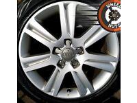 "17"" Genuine Techniks alloys VW Golf Caddy Seat Leon etc excel cond good tyres."