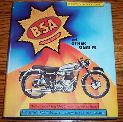 Bsa Gold Star And Other Singles Hardcover Book Roy Bacon 1982 Osprey Publishing