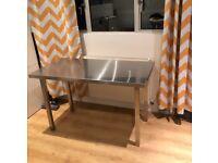 Metal desk 120cm wide