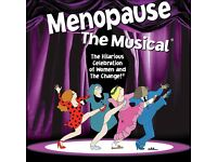 2 tickets for Menopause: The Musical