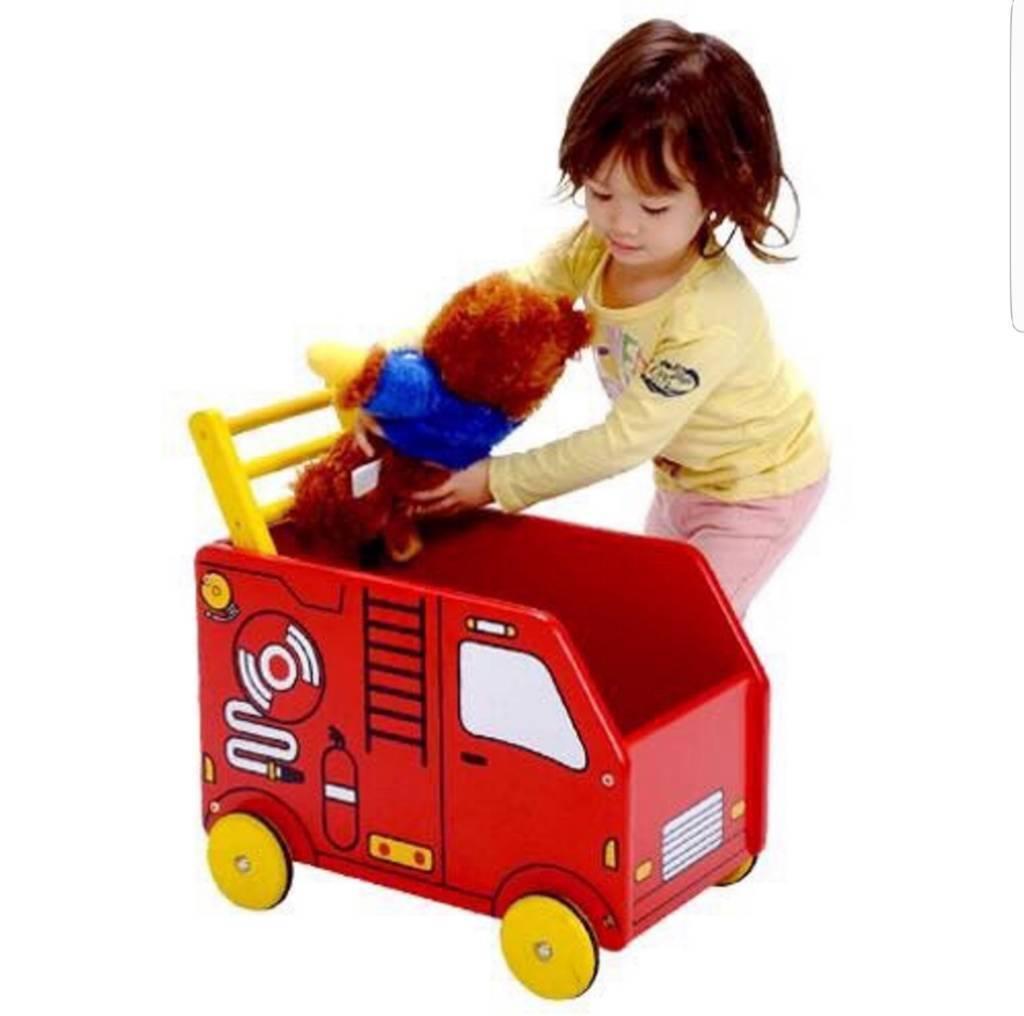 Im toy baby walker wooden storage toy